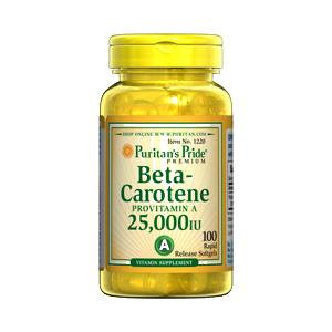 βカロチン(βカロテン) 15mg(ビタミンA:25000IU)100ソフトジェル