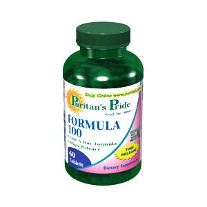 マルチビタミン&マルチミネラル タイムリリース FORMULA100(60タブレット)
