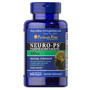 ニューロPS 100 mg. (ホスファチジルセリン)60 ソフトジェル
