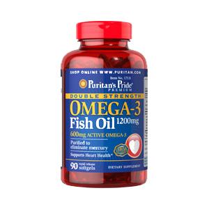 オメガ3 フィッシュオイル1200mg×90ソフトジェル(EPA/DHA600mg)