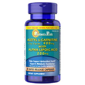 アセチル L-カルニチン400mg&αリポ酸(アルファリポイックアシド)200mg